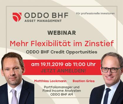"Webinar ""ODDO BHF Credit Opportunities"""