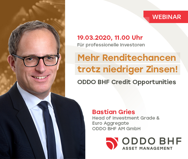 "Webinar ""ODDO BHF Credit Opportunities"""