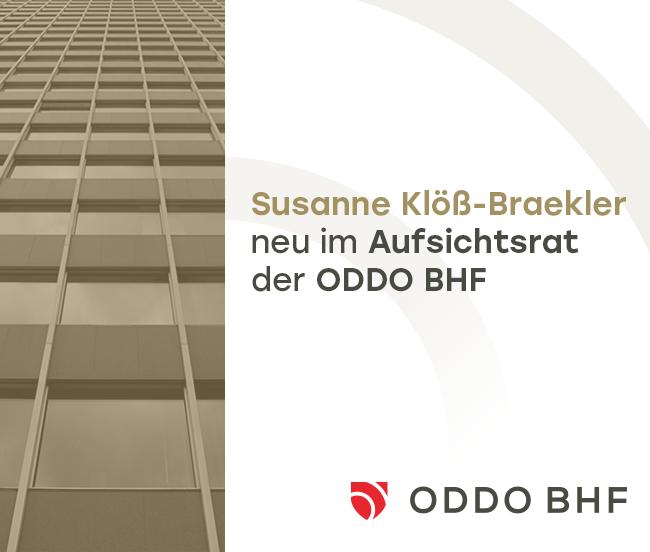 Susanne Klöß-Braekler neu im Aufsichtsrat der ODDO BHF AG