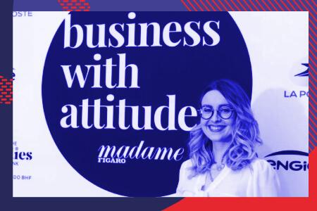Maryne Cotty-Eslous reçoit le prix Business with Attitude de Madame Figaro