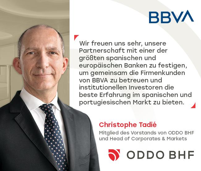ODDO BHF und BBVA erweitern ihre strategische Partnerschaft auf der Iberischen Halbinsel