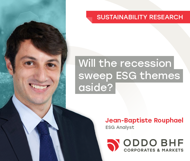 Climate change, the Green New Deal, CO2 commitments - will the recession sweep ESG themes aside?