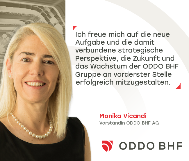 Monika Vicandi neu im Vorstand der ODDO BHF AG