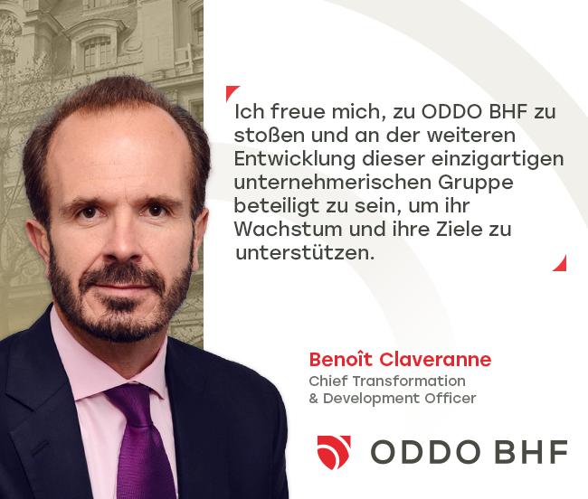 Benoît Claveranne neuer Chief Transformation & Development Officer von ODDO BHF