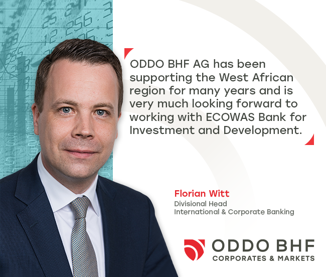 ECOWAS Bank for Investment and Development (EBID) signed € 40 million credit facility with ODDO BHF Aktiengesellschaft